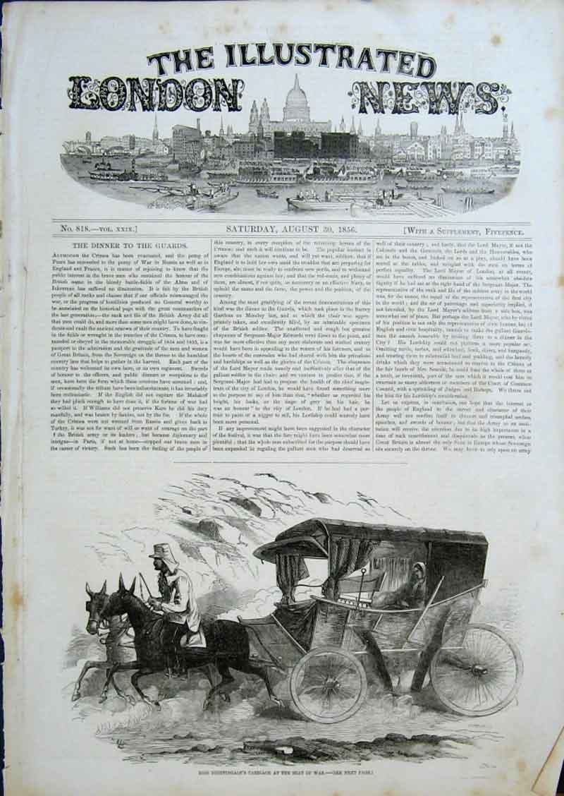 Print Miss Nightingale'S Carriage At Seat War Crimea 1856 08Aaa0 Old Original
