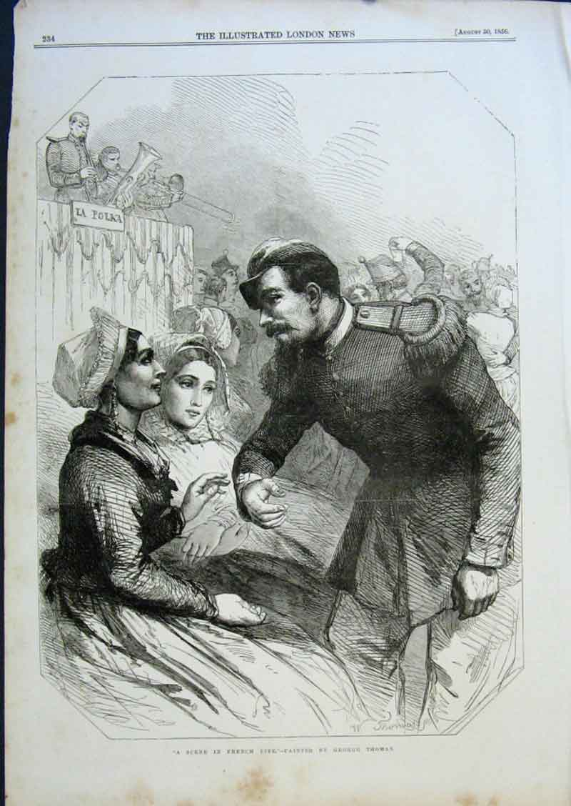 Print French Life By Thomas 1856 Fine Art 34Aaa0 Old Original