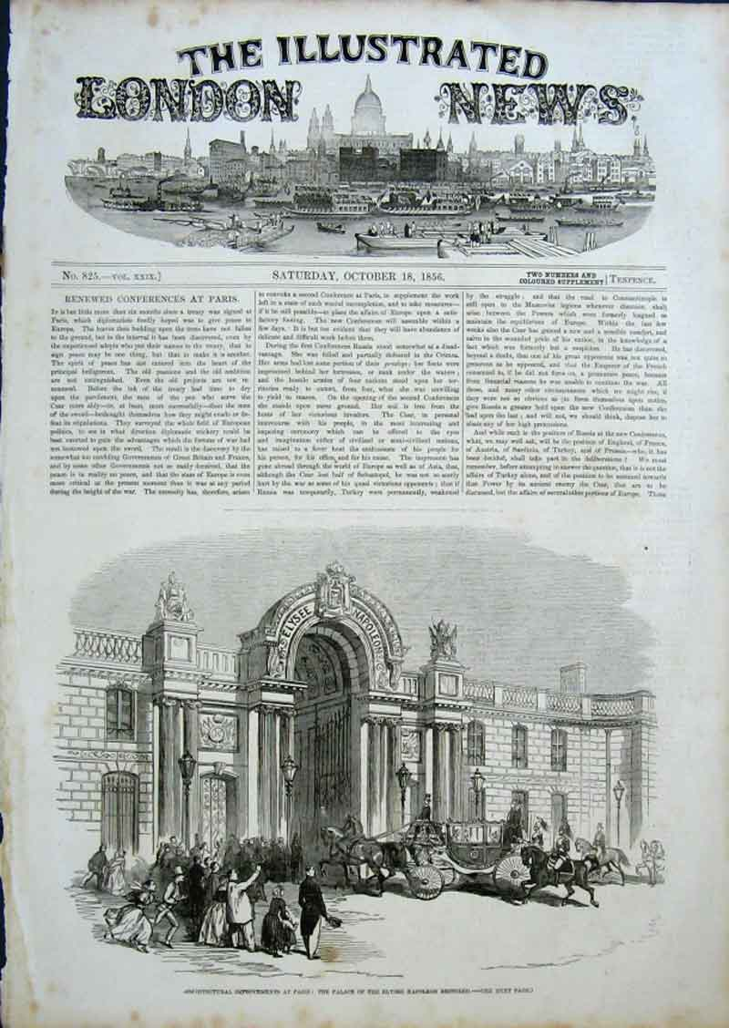 Print Palace Elysee Restored 1856 Paris France 84Aaa0 Old Original