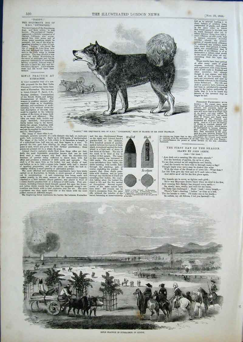 Print Daddy Esquimaux Dog Hms Enterprise Search For Franklin 30Aaa0 Old Original