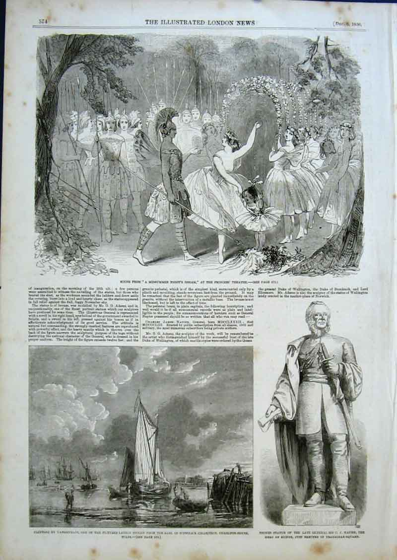 Print Scene From Midsummers Night Dream At Princess Theatre 1 74Aaa0 Old Original