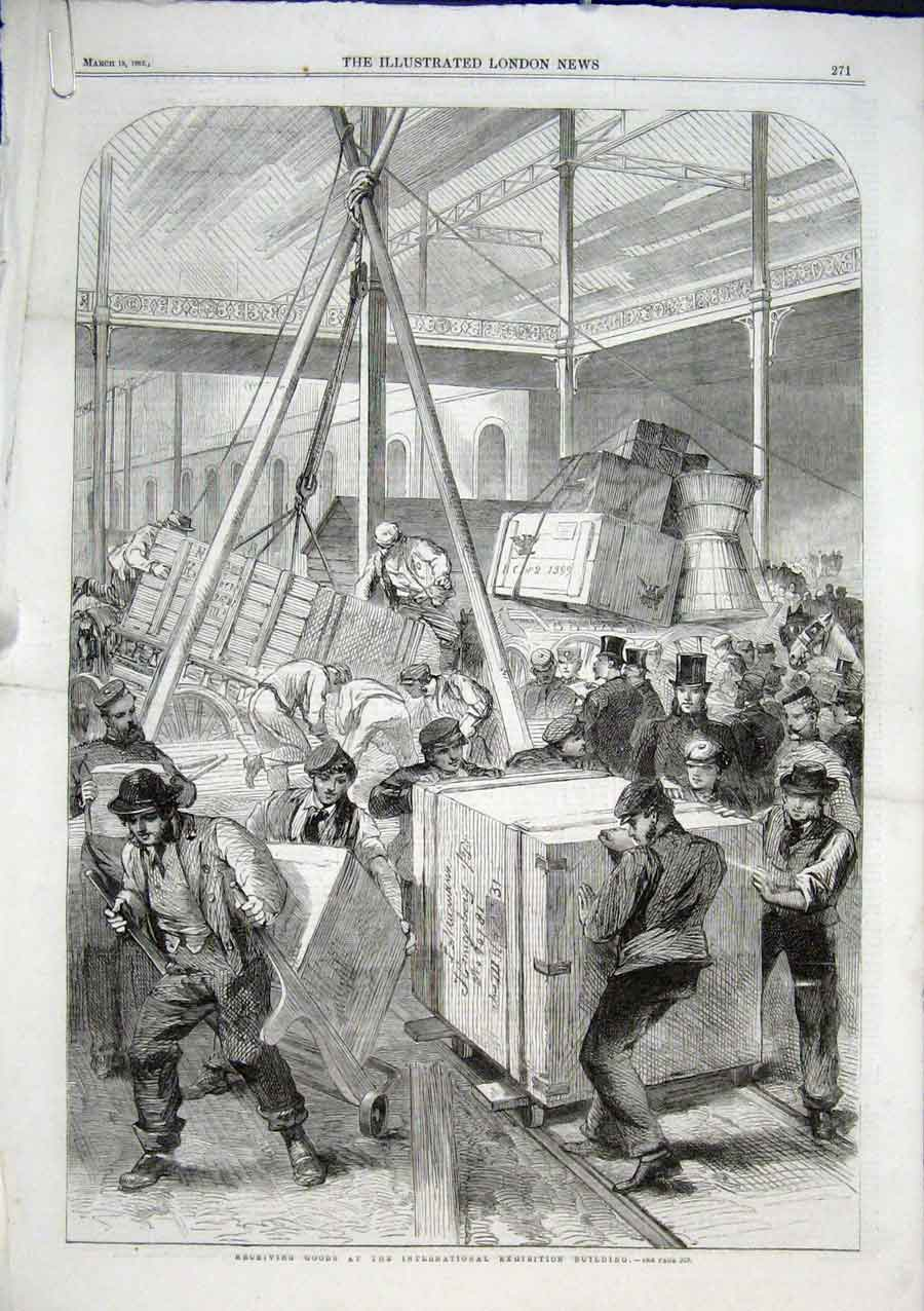 Print Receiving Good International Exhibition 1862 71Aaaa0 Old Original