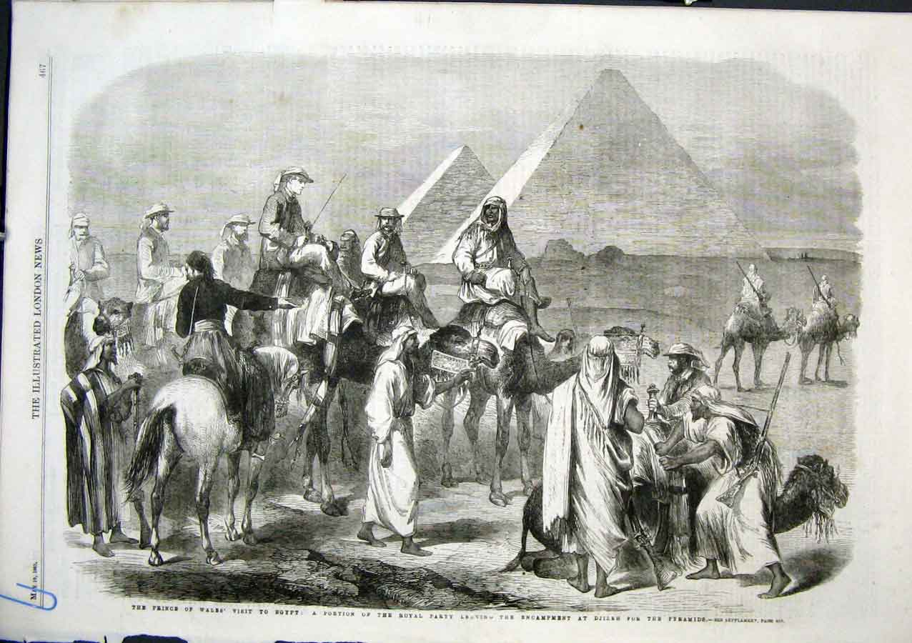 Print Photographing Prince Wales Visit Egypt 1862 & Royal Par 67Aaaa0 Old Original