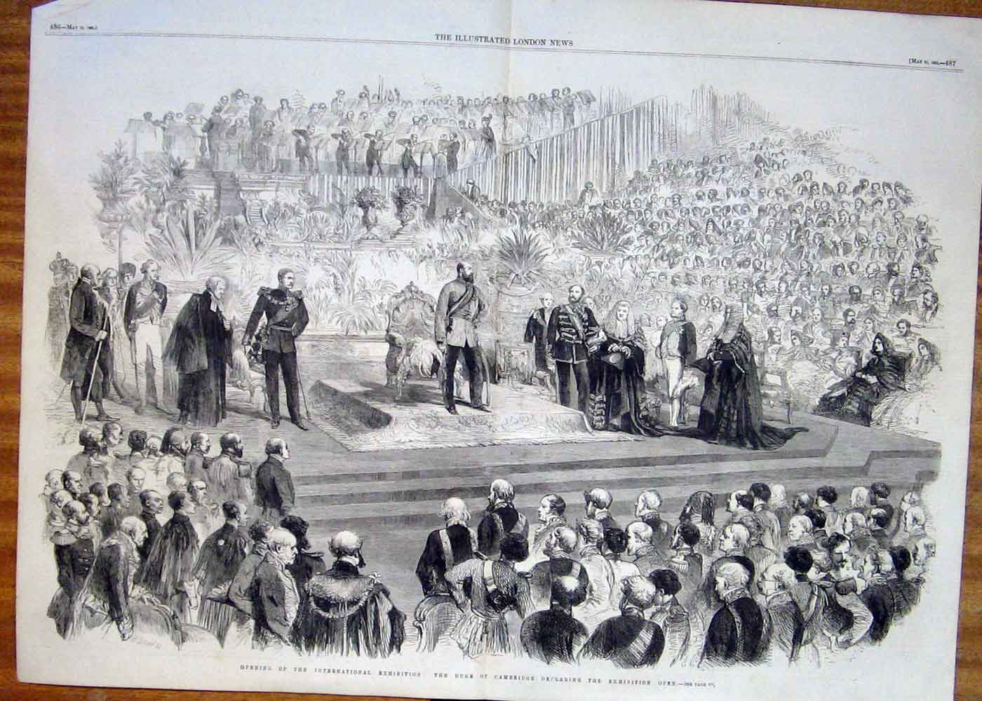 Print Duke Cambridge Declares International Exhibition Open 1 85Taaa0 Old Original