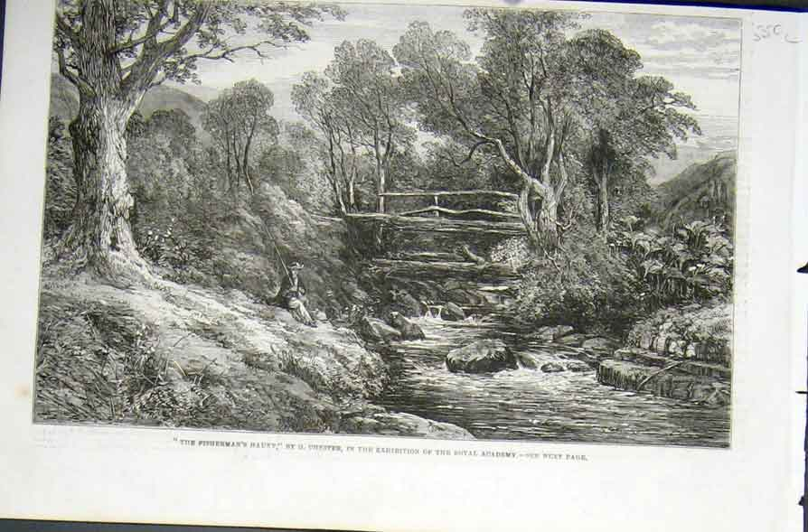 Print Fishermans Haunt By Chester 1862 Fine Art 50Laaa0 Old Original