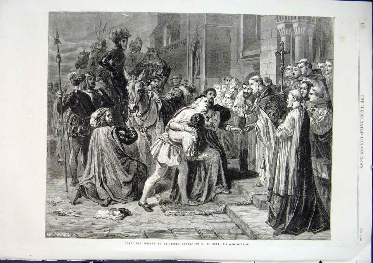 Print Cardinal Wolsey At Leicester Abbey By Cope Fine Art 186 56Aaa0 Old Original