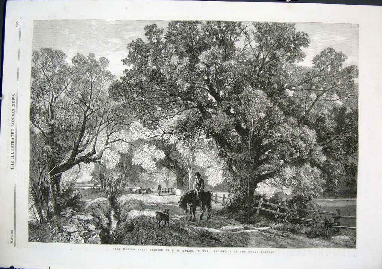 Print The Waning Year By Hulme 1863 Fine Art 05Aaa0 Old Original