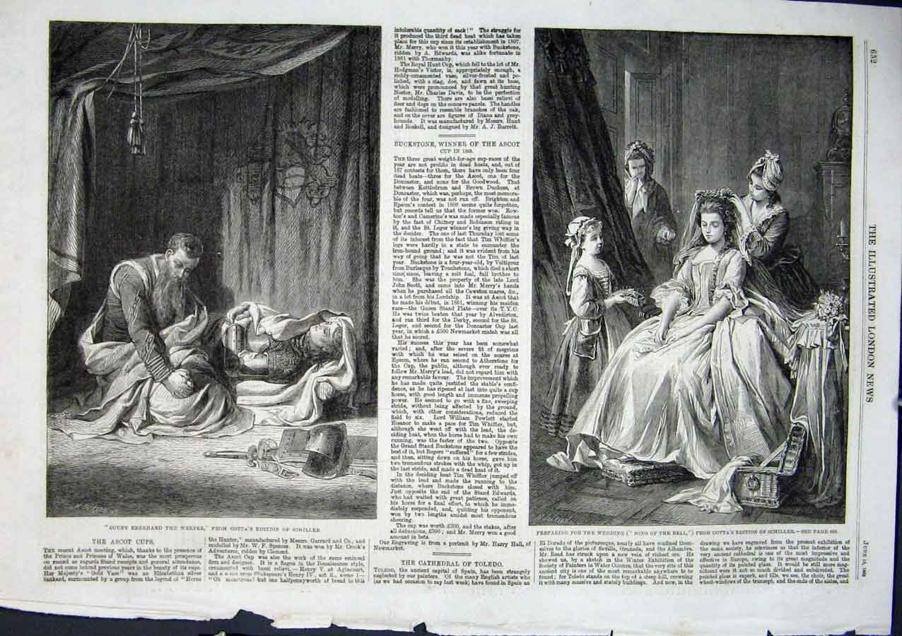 Print 2 1863 Fine Art Theatre Scenes 52Aaa0 Old Original