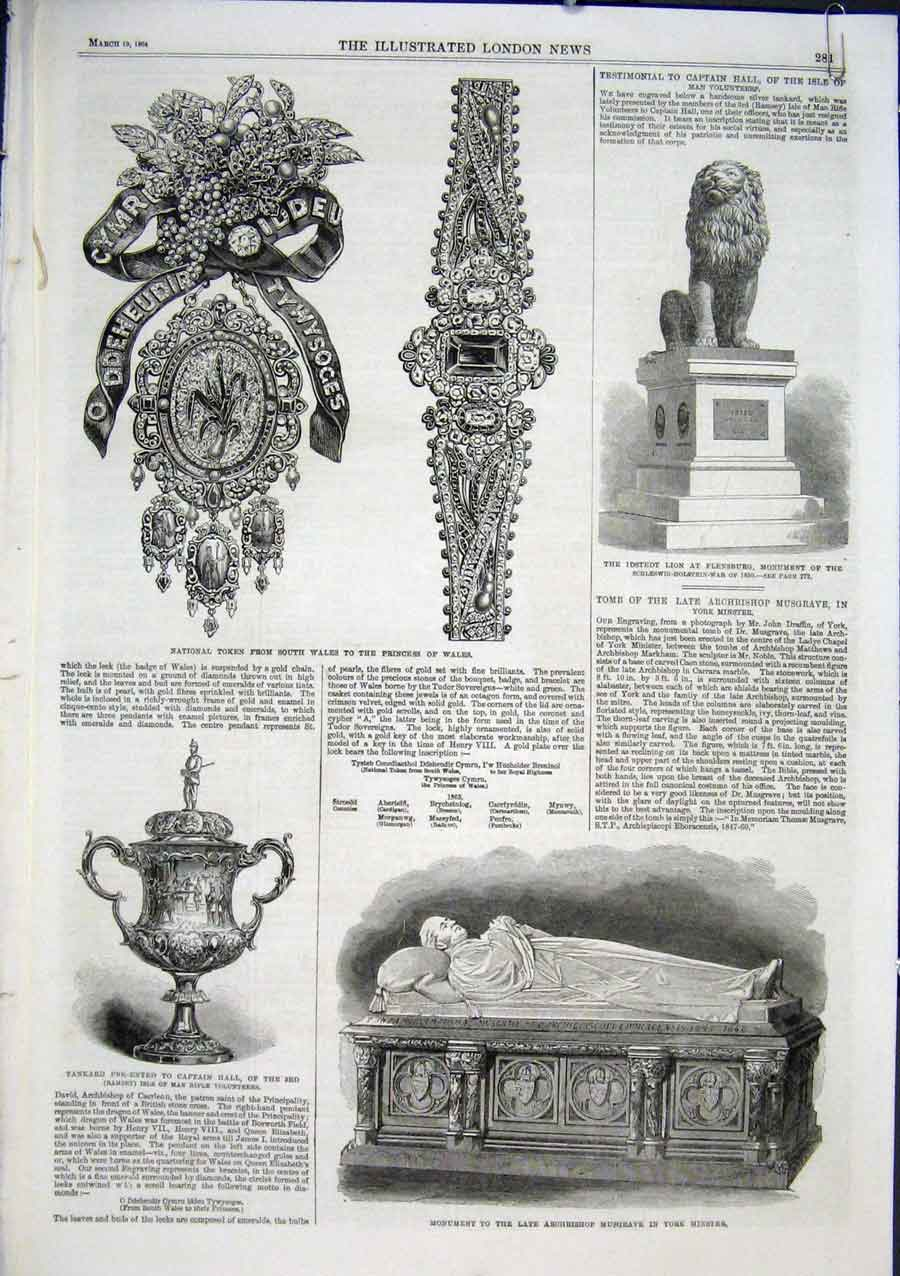 Print Wedding Presents From Queen To Prince Wales 1864 80Aaaa0 Old Original