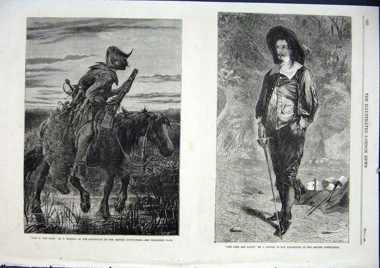 Print Jock O'The Syde By Weekes Time & Polace By Pettie 1864 40Aaa0 Old Original