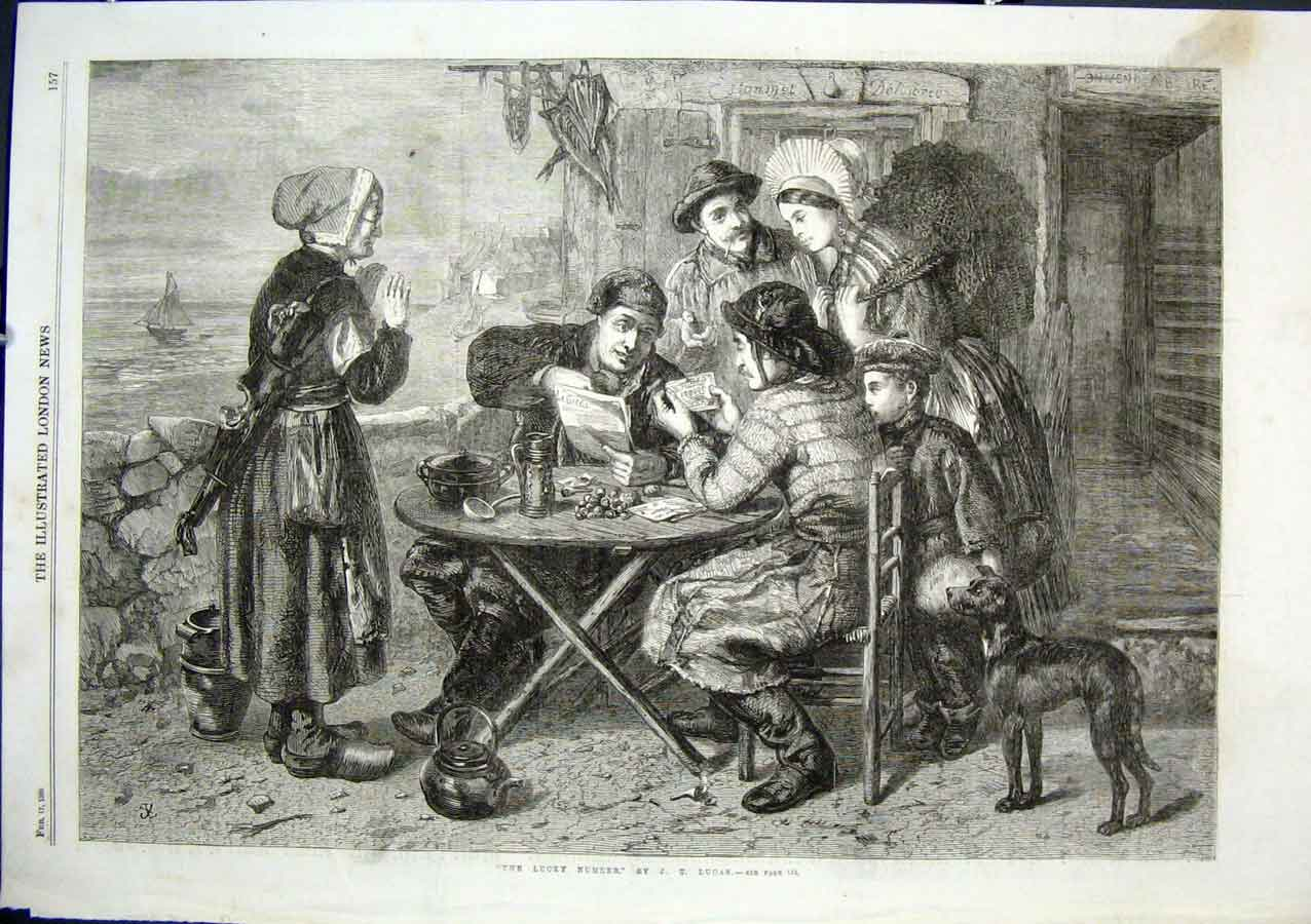 Print The Lucky Number By Lucas 1866 Fine Art 57Aaa0 Old Original
