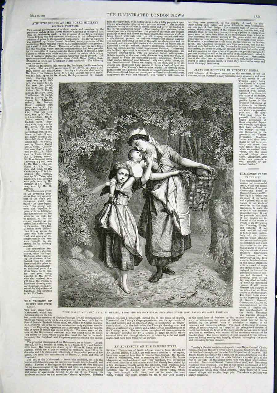 Print Happy Mother By Gerard 1866 Fine Art 89Aaa0 Old Original