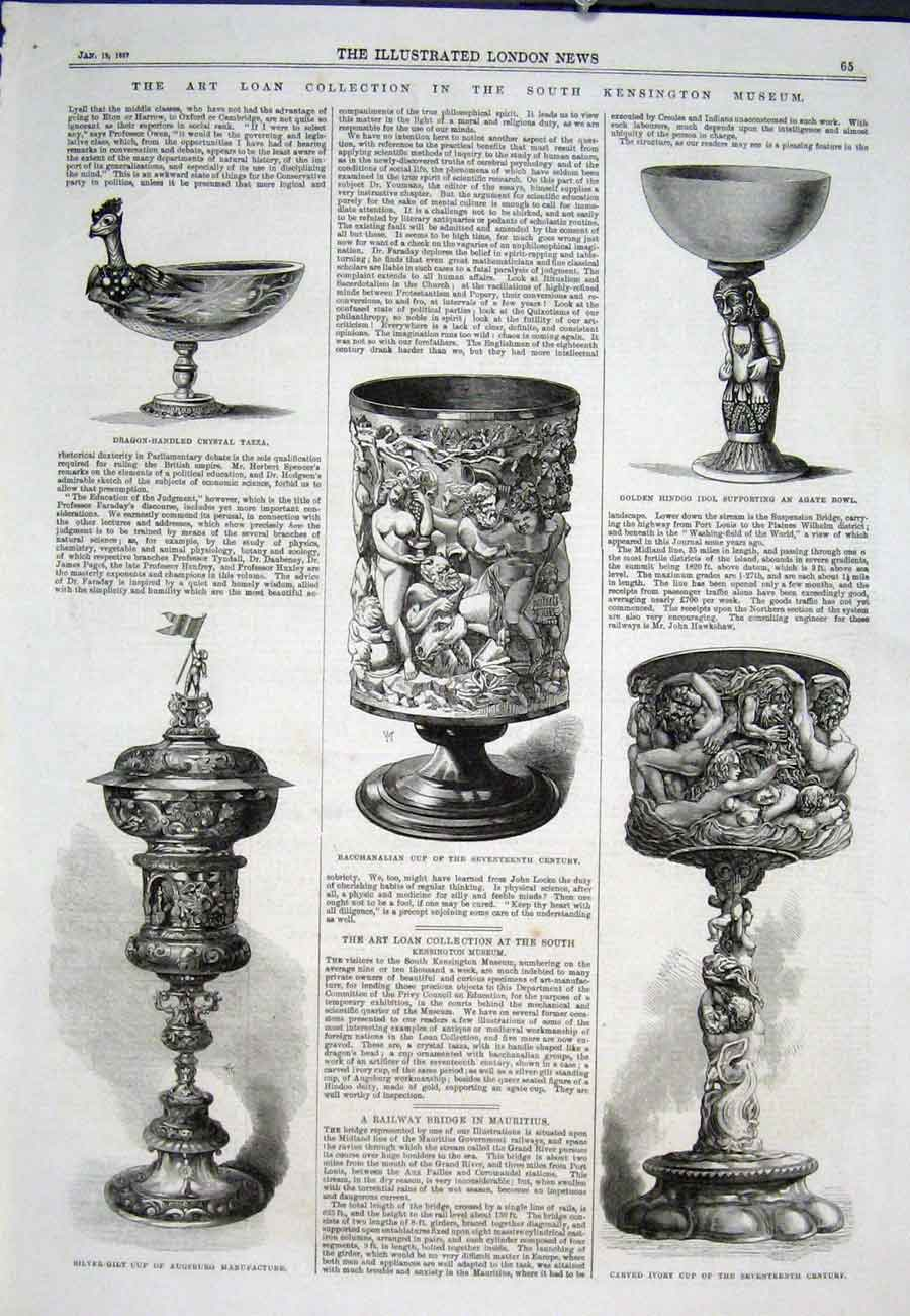 Print South Kensington Museum Art Collection Cup 65Aaa0 Old Original