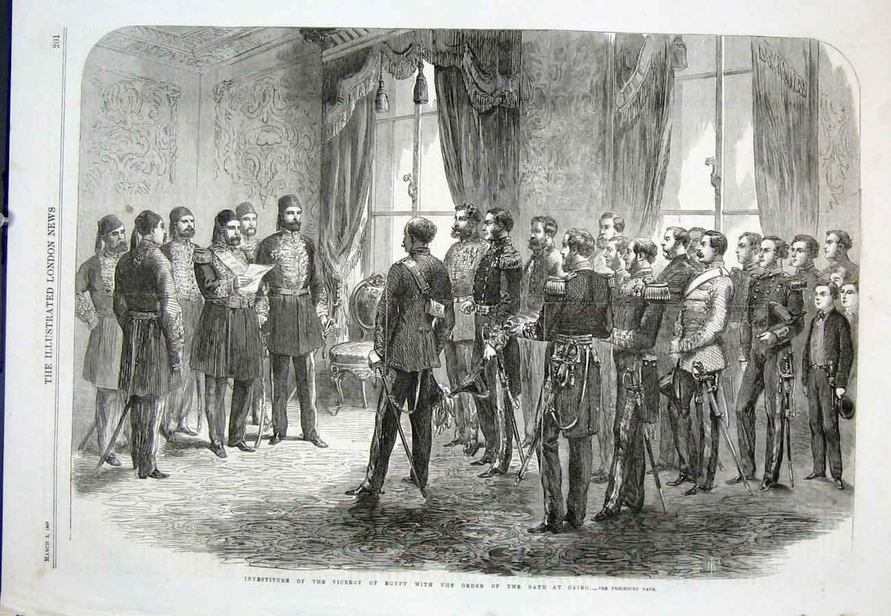 Print Cairo Viceroy Egypt Investiture 1867 01Aaa0 Old Original