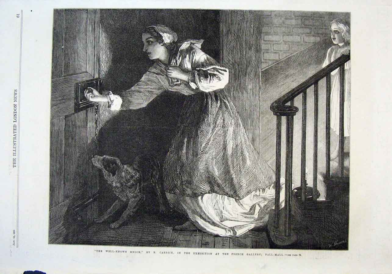 Print Well Known Knock By Carrick Fine Art 1869 61Aaa0 Old Original