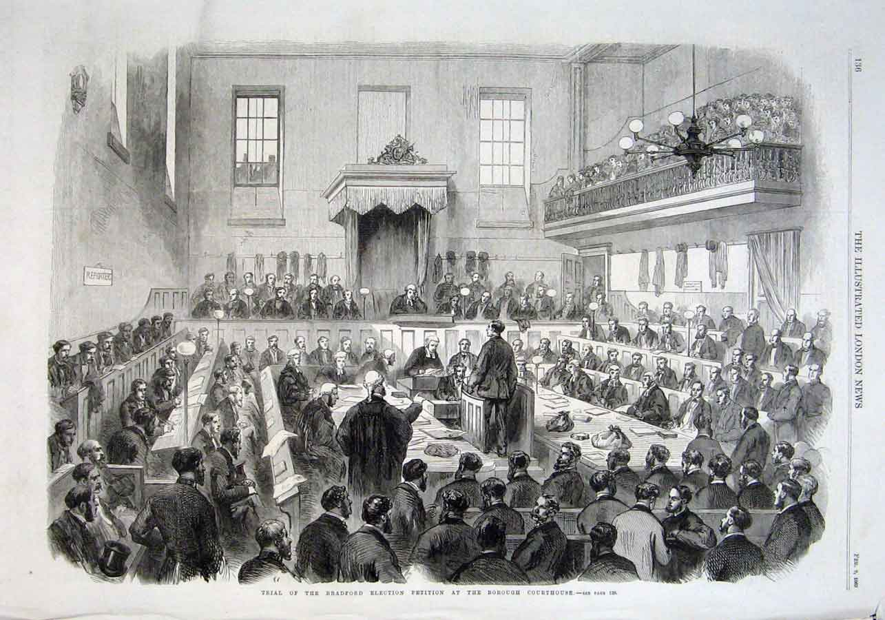 Print Trial Bradford Election Petetion 1869 36Aaa0 Old Original