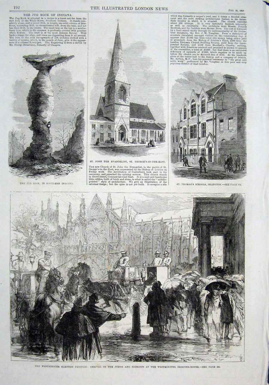 Print Westminister Election Trial At Sessions House 1869 92Aaa0 Old Original