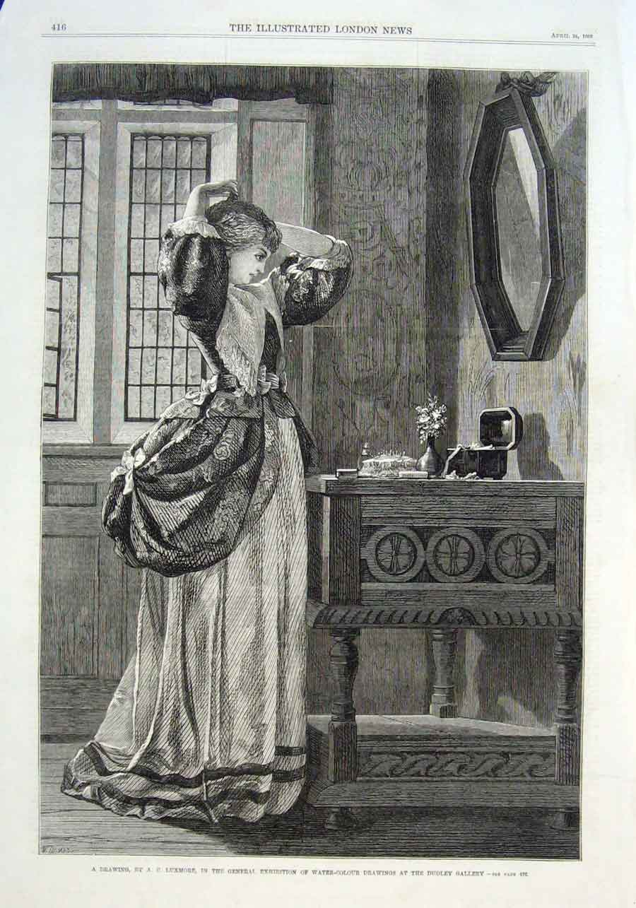 Print A Girls Toilette By Luxmore 1869 Fine Art 16Aaa0 Old Original
