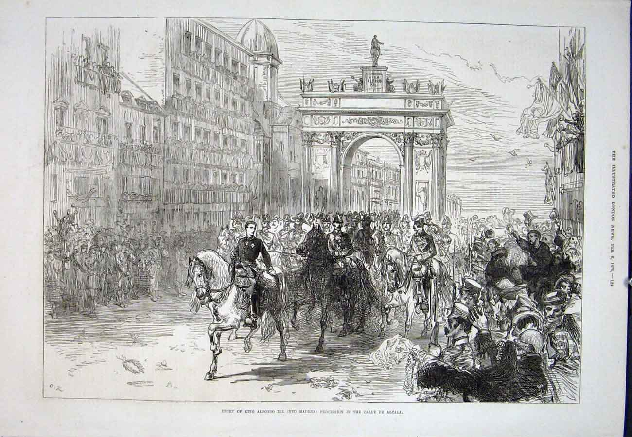 Print Alphonso King Madrid Calle De Alcala 1875 24Aaa0 Old Original