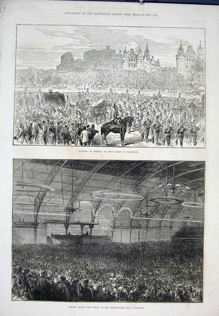 Print Hope Grant Edinburgh Moody Sankey Islington 1875 77Aaa0 Old Original