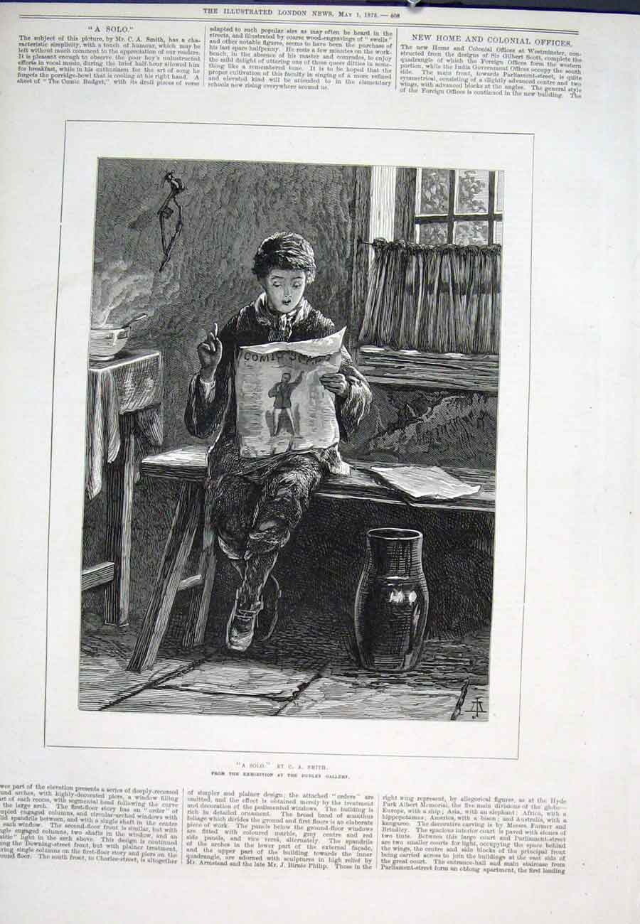 Print Solo Smith Dudley Gallery Boy 1875 08Aaa0 Old Original