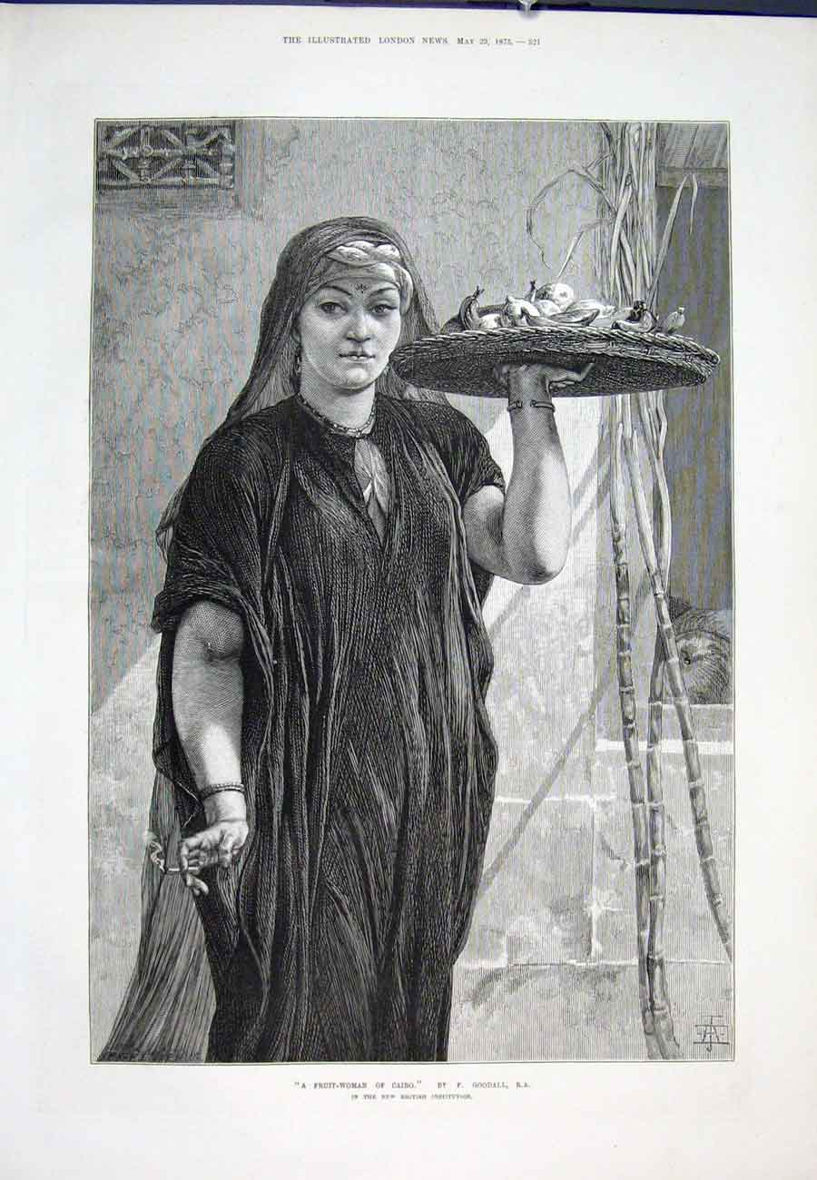 Print Goodall Fruit Woman Cairo 1875 21Aaa0 Old Original