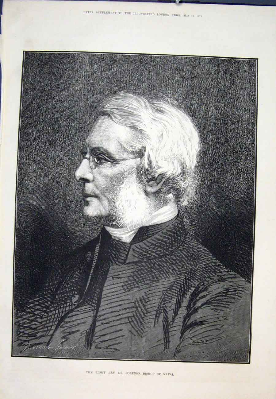 Print Portrait Bishop Colenso Natal South Africa 1875 06Aaa0 Old Original