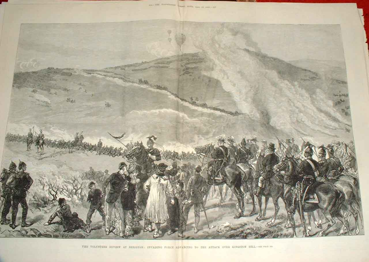 Print Review At Brighton Kingston Hill Army 188 43Taaa0 Old Original