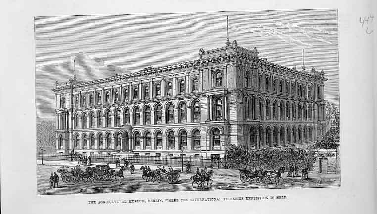 Print The Agricultural Museum Berlin 1880 44Laaa0 Old Original