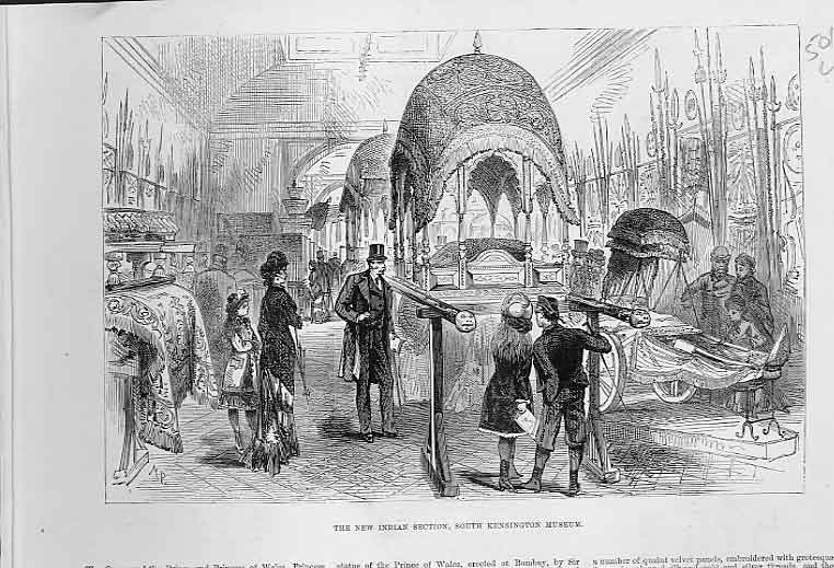 Print Indian Section Kensington Museum 1880 01Laaa0 Old Original