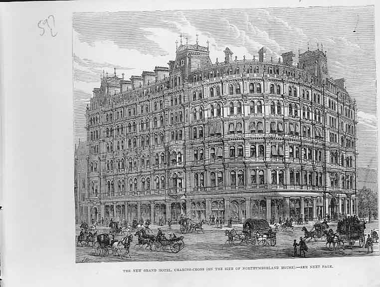 Print New Grand Hotel Charing Cross On Site Northumberland Ho 97Laaa0 Old Original