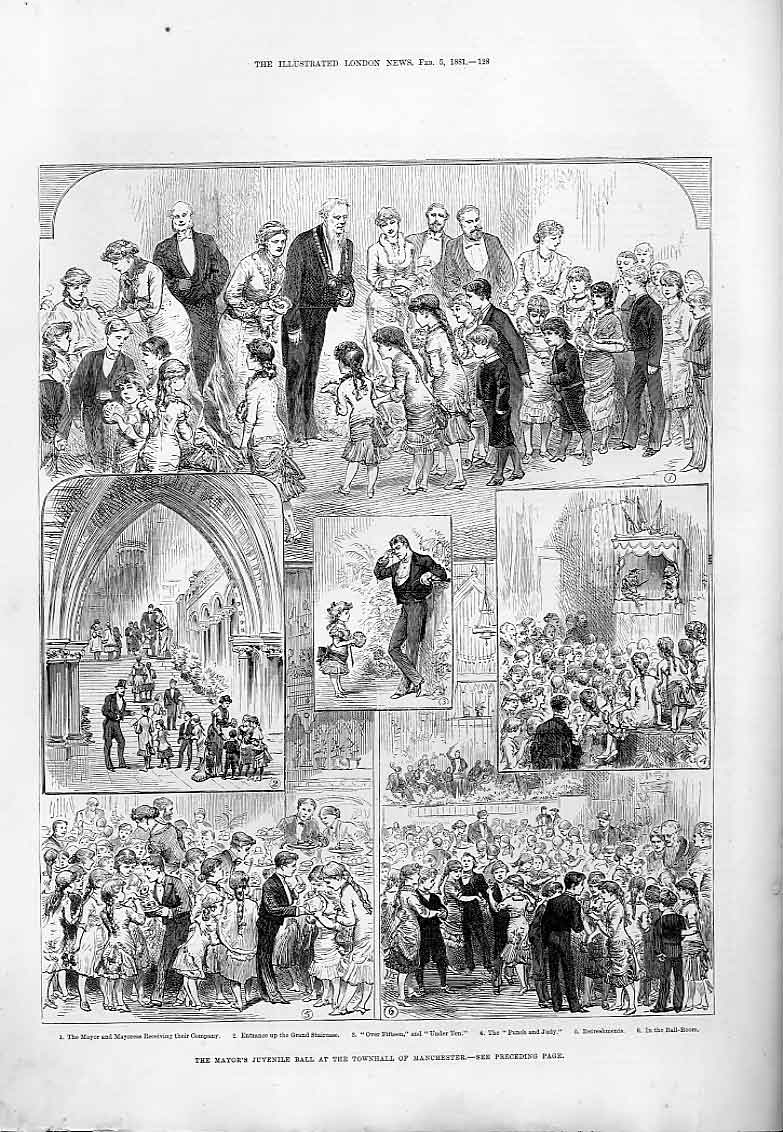 Print Juvenile Ball Townhall Manchester 1881 28Aaa0 Old Original