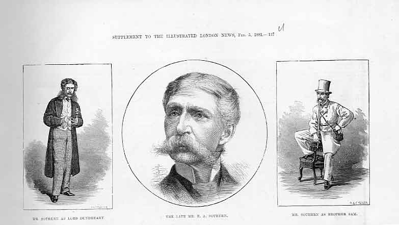 Print Mr Southern Actor In Three Roles Theatre 37Uaaa0 Old Original