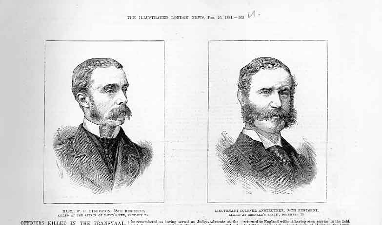 Print Portraits Higgeston & Col Anstruthers 188 05Uaaa0 Old Original