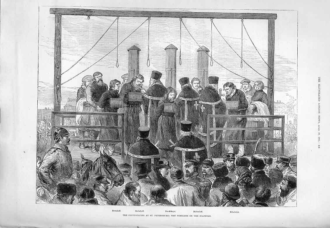 Print The Nihilists On The Scaffst Petersburg 1881 36Aaa0 Old Original