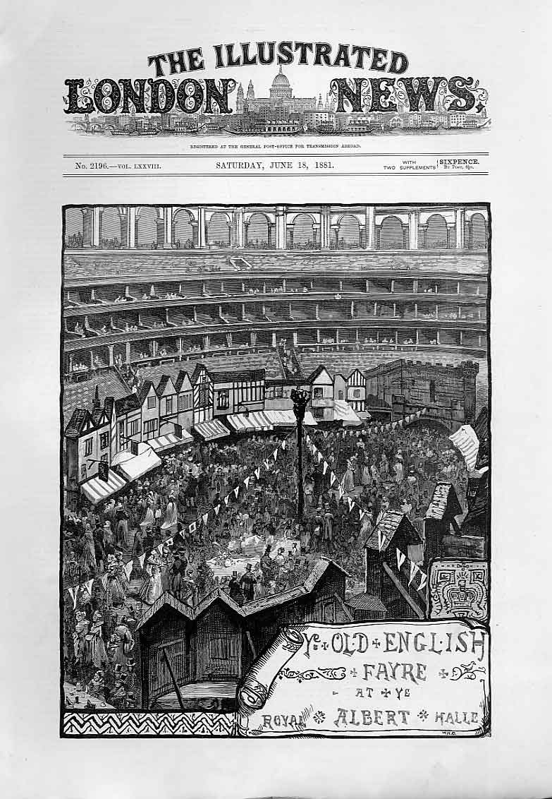 Print Ye Olde English Fayre At Albert Hall 1881 94Aaa0 Old Original