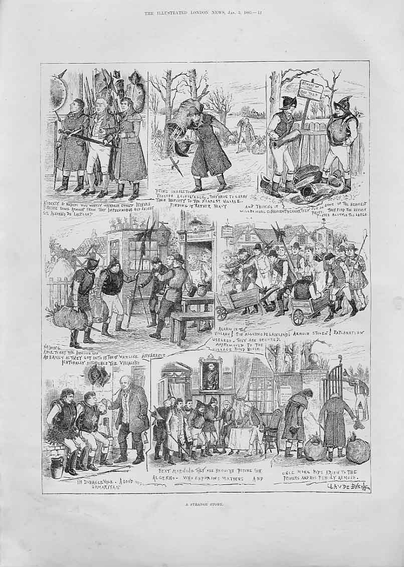 Print Strange Story A Sale Armour 1885 12Aaa0 Old Original