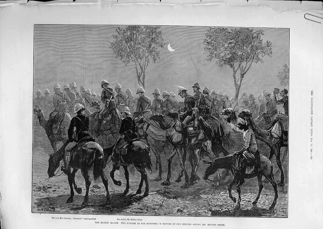 Print Clothing For Troops Pimlico & Night Desert Marcht 1885 95Aaaa0 Old Original