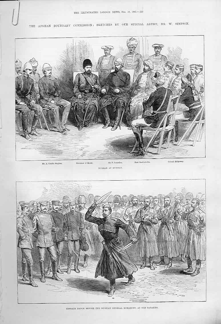 Print Durbar Kushan Cossack Dance Surgical Operation 1885 19Aaaa0 Old Original