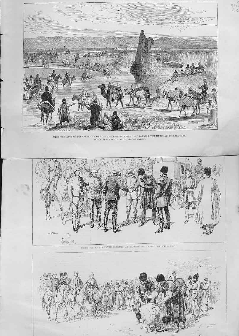 [Print Sacrifice Sheep Or Korbanieh 1885 Afghan 03Laaa0 Old Original]