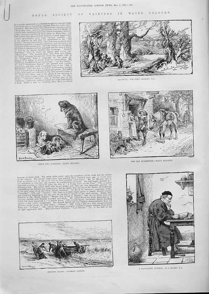 Print 22 Fine Art Society Painters 1885 54Aaaa0 Old Original