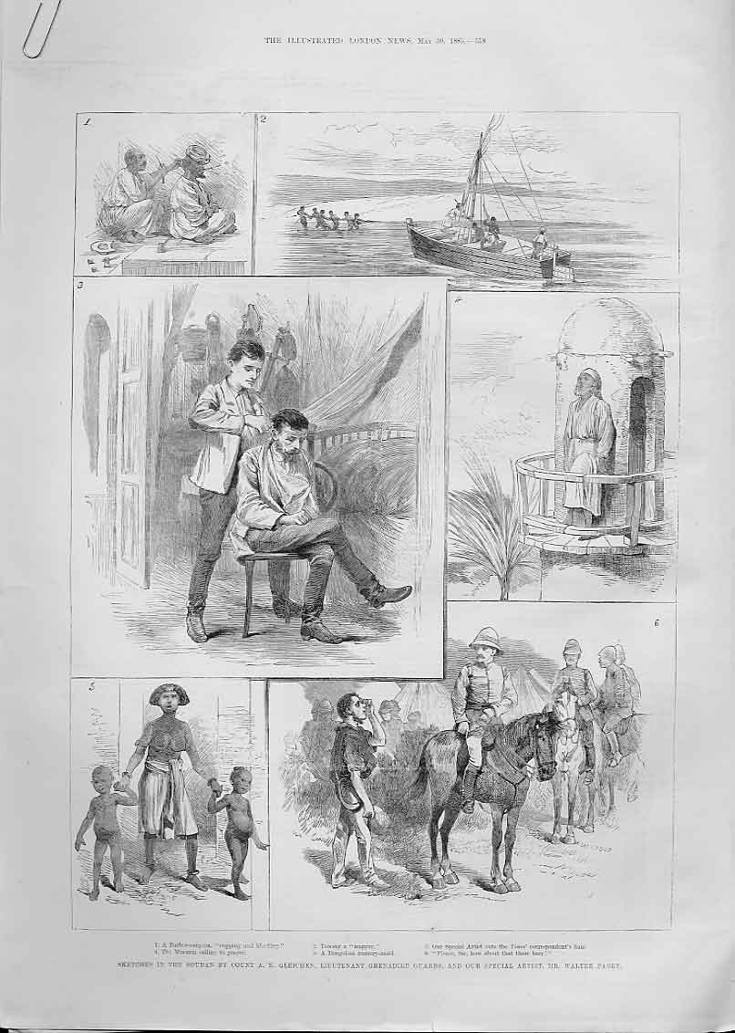 Print Soudan Barber Surgeon Nursery Maid 1885 58Aaaa0 Old Original