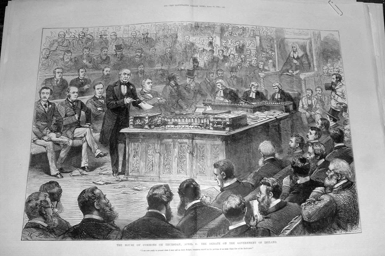 Print Parliamnet Debate Government Ireland 1886 April 8 01Taaa0 Old Original