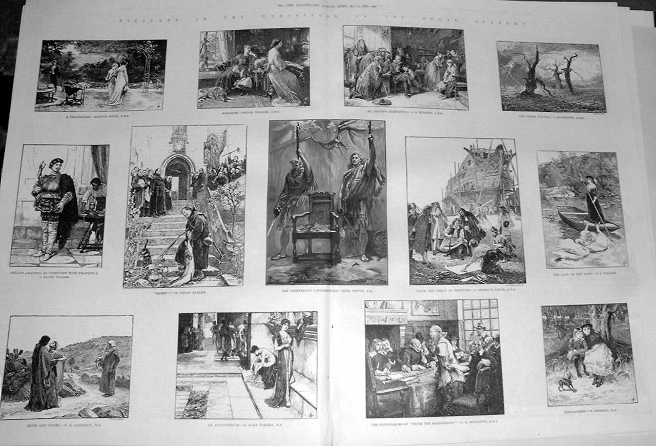 Print Royal Academy Pictures 1886 89Taaa0 Old Original