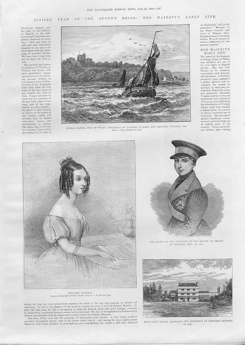Print 9 Pages Early Life Queen Victoria 1886 47Aaaa0 Old Original