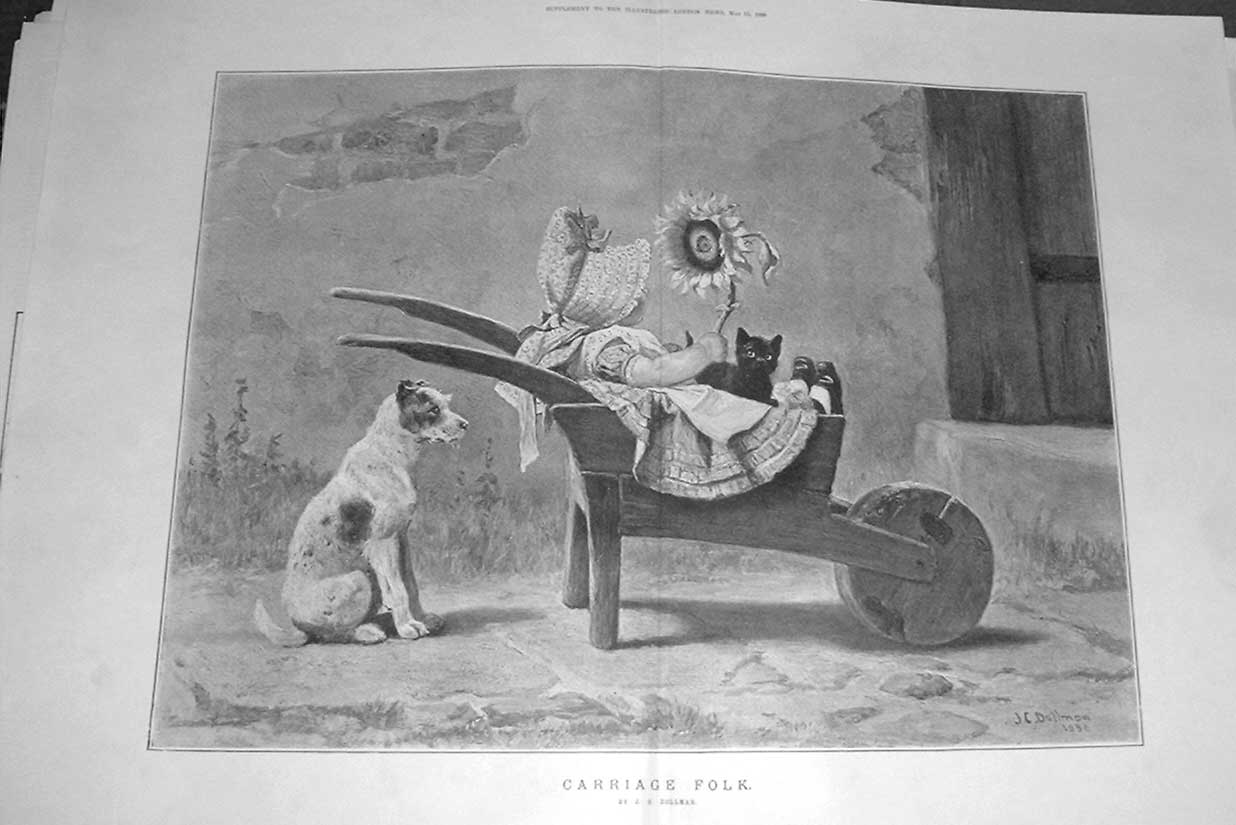 Print Carriage Folk !! Fine Art By Dollman 1886 06Taaa0 Old Original