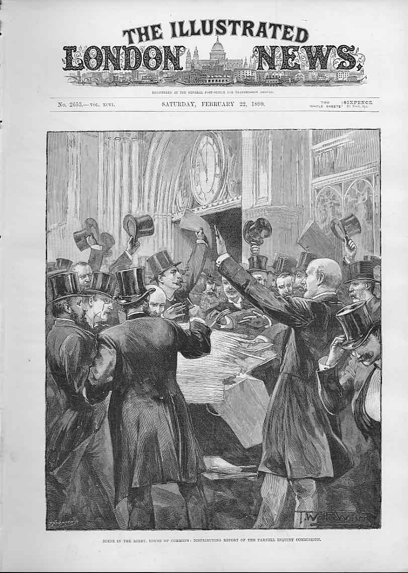 Print Distributing Parnell Inquiry House Commons 1890 26Aaa0 Old Original