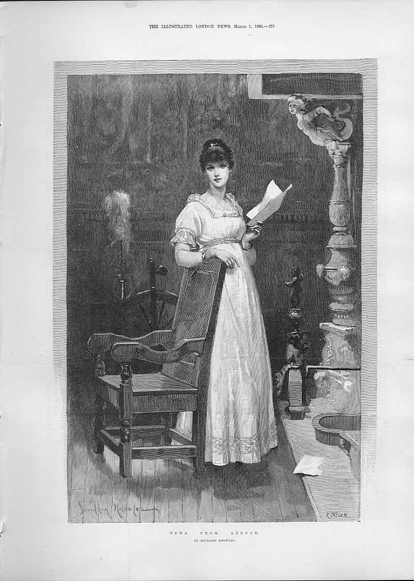 Print Nesw From Abroad By Knowles Fine Art 1890 73Aaa0 Old Original