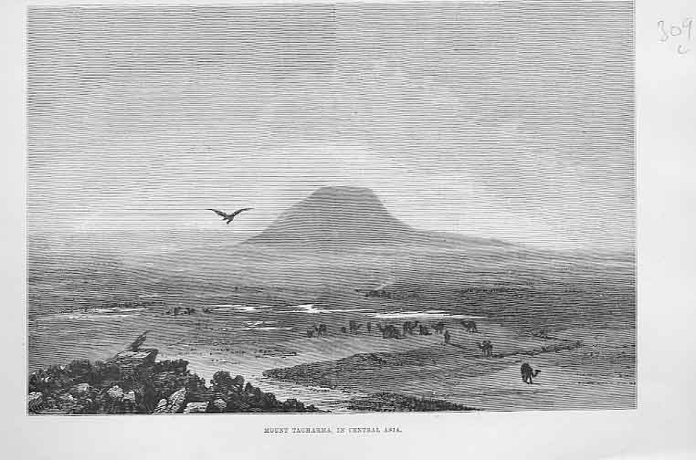 Print Mont Tagharma In Central Asia 1890 09Laaa0 Old Original
