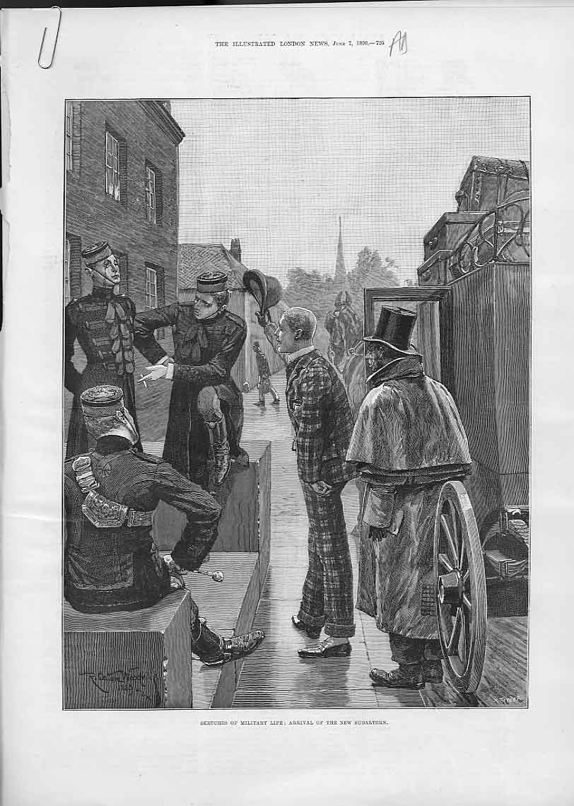 Print Arrival New Subaltern For A Military Life 25Aaaa0 Old Original